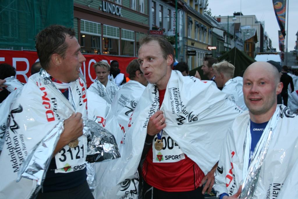 I mål på MSM 2014. Sportsmannen i midten...  (Foto: Terje Håkstad, MSM)