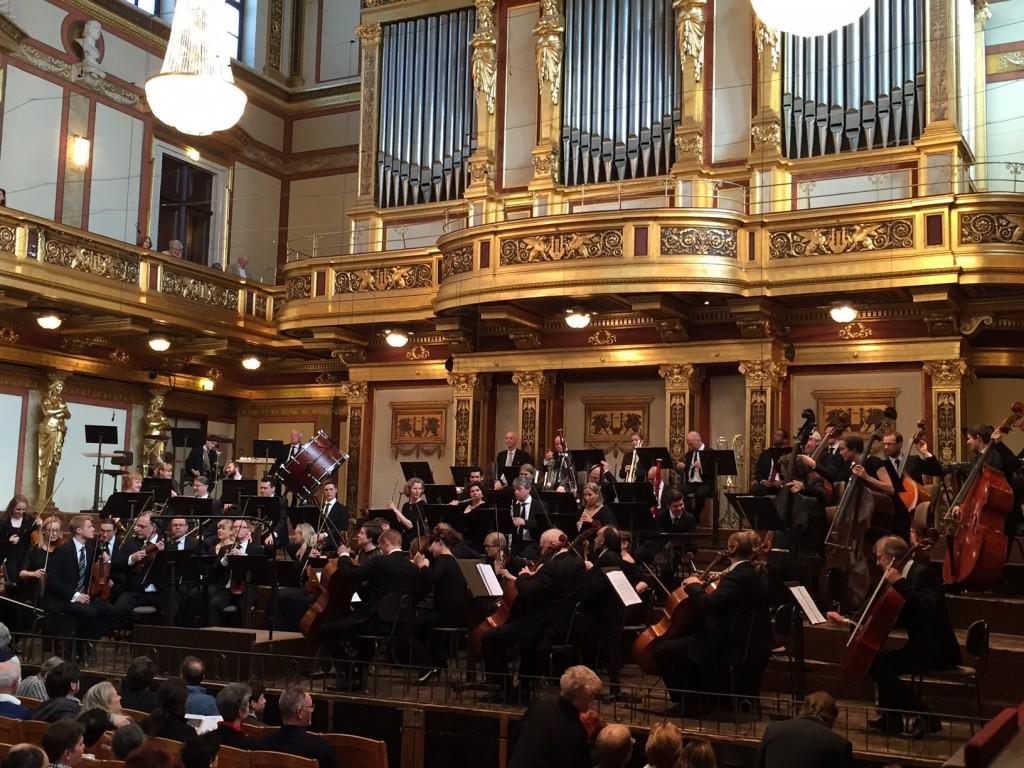 NOSO i Musikverein, Wien. Jeg var der! Ikke på scenen, men jublende (inni meg)  på siden.