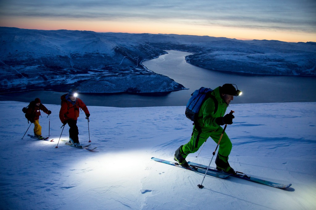 Topptur i lys fra Moonlight. Foto: Moonlight Mountain Gear/Thomas Kleiven